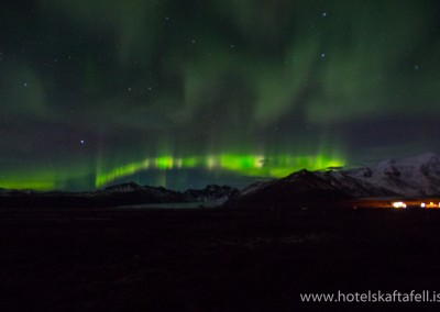 Norðurljósamyndir frá www.hotelskaftafell.is