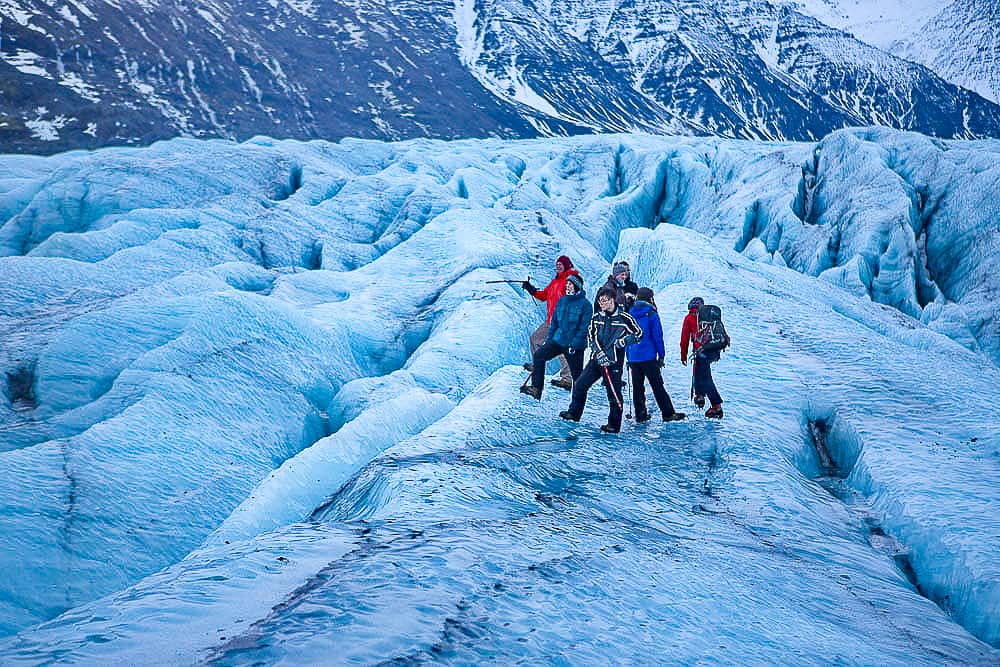 There are several options for glacier walks close to Hotel Skaftafell